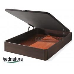 Ottoman Bed Natur Wooden Floor